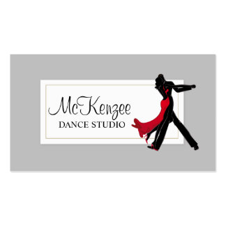 Professional Dance Studio, Instructor Business Business Card