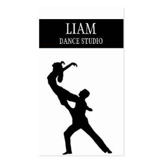 Professional Dance Studio, Instructor Business Card