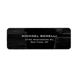 Professional Dark Black Gray Wood Plain Elegant Label