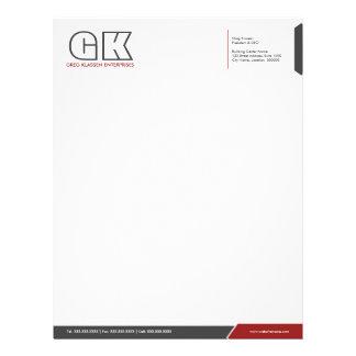 Professional Dark Gray & Red Letterhead Template