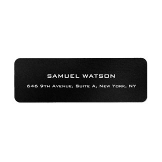 Professional Dark Grey Plain Elegant Modern Label