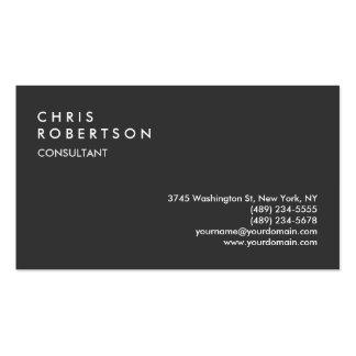 Professional Dark Grey Simple Business Card