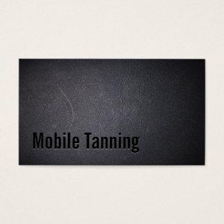 Professional Dark Mobile Tanning Salon Business Card