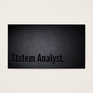 Professional Dark System Analyst Business Card