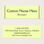 Professional Decorator Business Card
