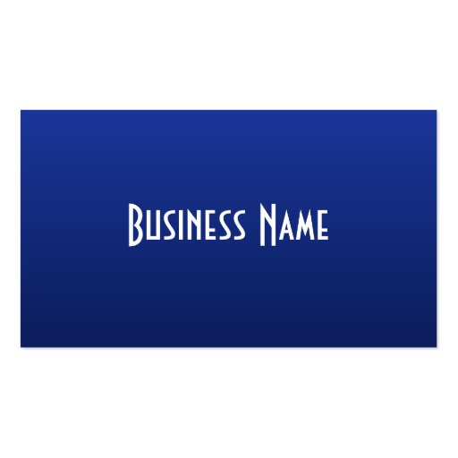 Professional Deep Blue Business Card