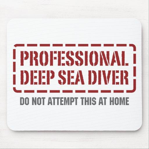 Professional Deep Sea Diver Mouse Mats