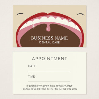 Professional Dental Appointment Reminder Business Card