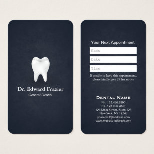 Dental business cards templates zazzle professional dental care dentist appointment blue business card reheart Choice Image
