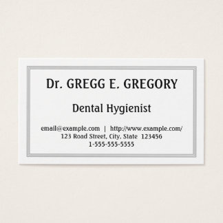 Professional Dental Hygienist Business Card