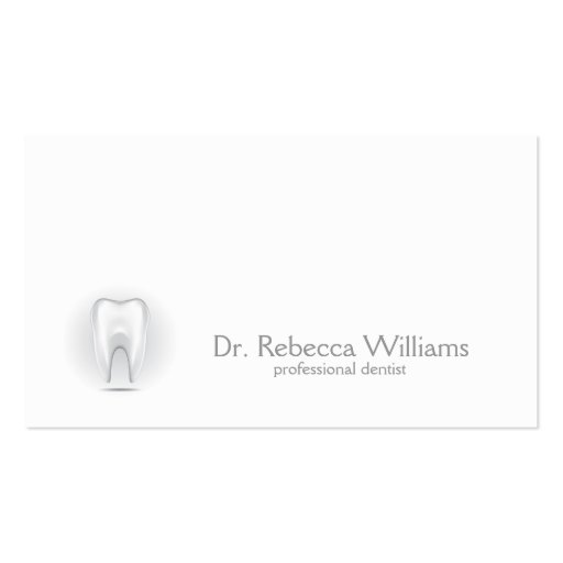 Professional dentist business card
