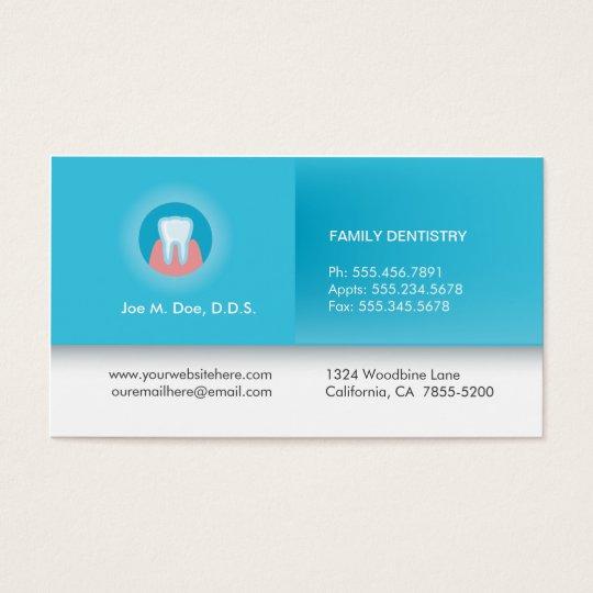 Professional Dentist Business Card Zazzle Com