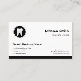 Dental appointment business cards templates zazzle professional dentist dental care appointment reheart Image collections