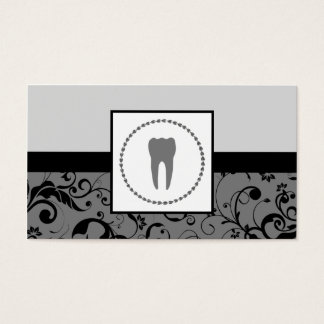 professional dentistry : damask tooth business card