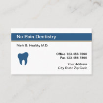 Professional Design Dentist Appointment Business Card
