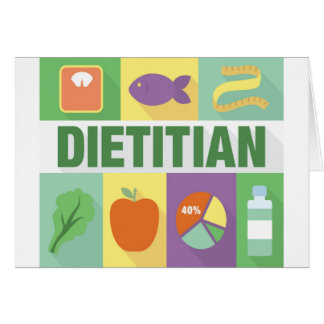 Professional Dietitian Iconic Designed Card