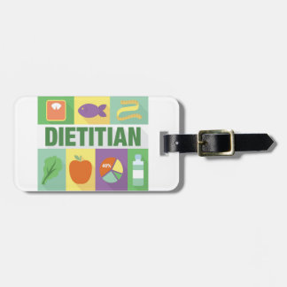 Professional Dietitian Iconic Designed Luggage Tag