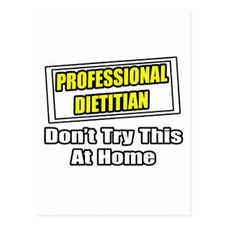 Professional Dietitian...Joke Postcard