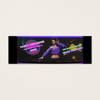 Professional DJ Services Party Business Cards
