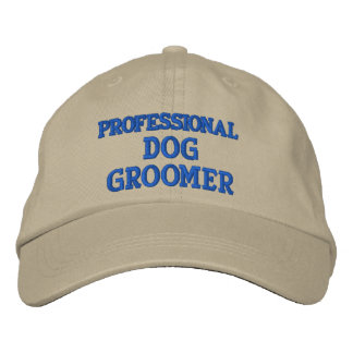 PROFESSIONAL DOG GROOMER EMBROIDERED BASEBALL CAP