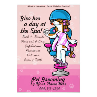 Professional dog grooming advertising cards