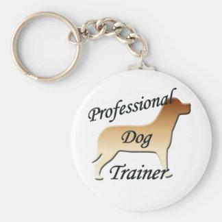 Professional Dog Trainer Basic Round Button Keychain
