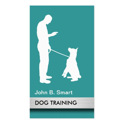Professional dog trainer business card zazzle for Dog trainer business card