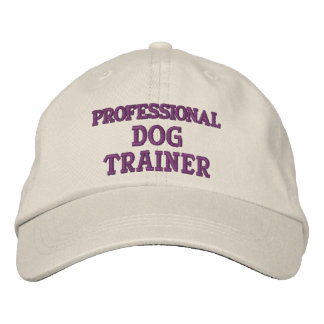PROFESSIONAL DOG TRAINER EMBROIDERED BASEBALL CAPS