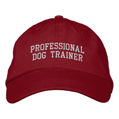 Professional Dog Trainer Embroidered Cap Embroidered Baseball Cap