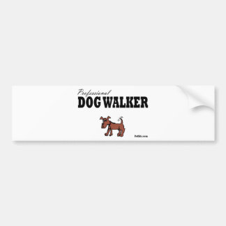 Professional Dog Walker Bumper Sticker