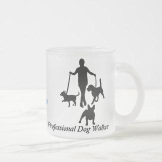 Professional Dog Walker Frosted Glass Coffee Mug