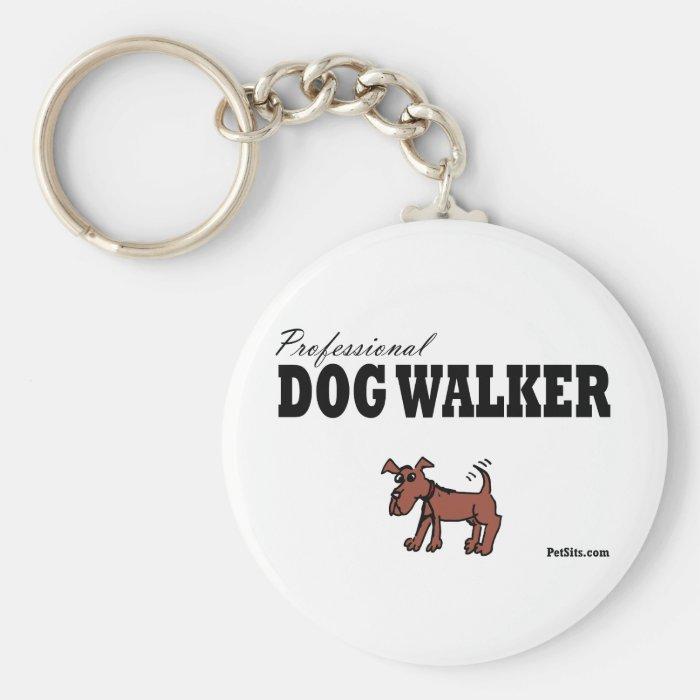 Professional Dog Walker Keychain