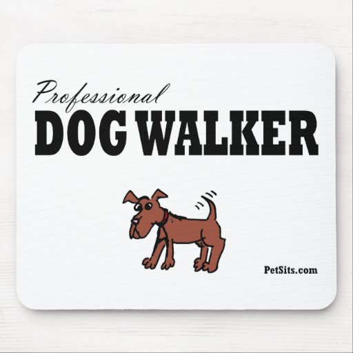 Professional Dog Walker Mouse Pads