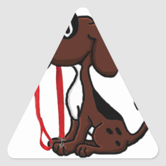 Professional Dog Walker Triangle Sticker