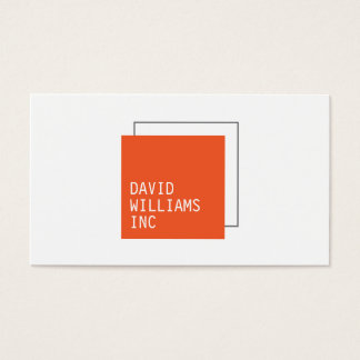 Professional Double Square Logo in Orange/Gray Business Card