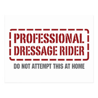 Professional Dressage Rider Post Card