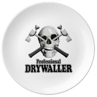 Professional Drywaller Porcelain Plates
