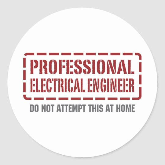 Professional Electrical Engineer Classic Round Sticker