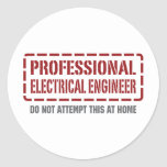 Professional Electrical Engineer Stickers