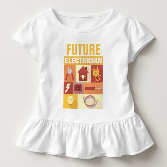 Professional Electrician Iconic Designed Toddler T-shirt