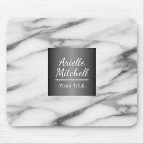 Professional Elegant Alabaster Marble Pattern Mouse Pad