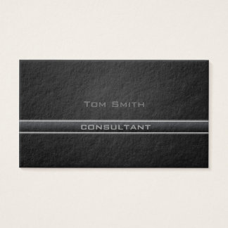Professional elegant  black business card