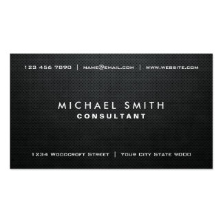 Professional Elegant Black Modern Plain Simple Double-Sided Standard Business Cards (Pack Of 100)