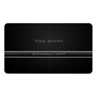 Professional elegant  black plain business card