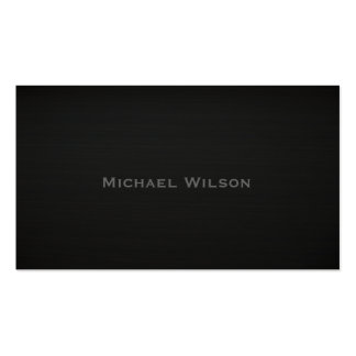 Professional elegant  black texture plain Double-Sided standard business cards (Pack of 100)