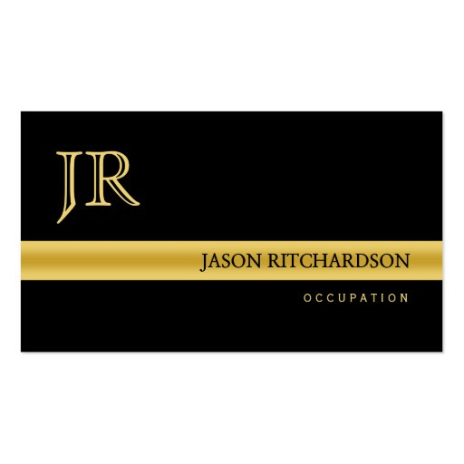 Professional elegant business card Black and Gold