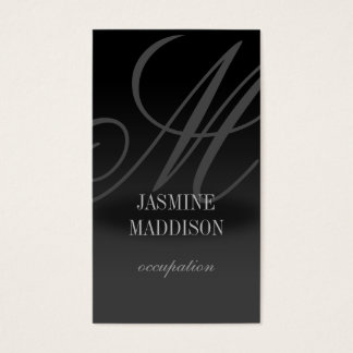 Professional elegant business card Black Grey