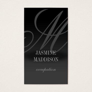 Professional Business Professional elegant business card Black Grey