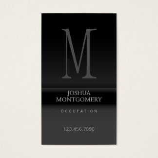 Professional elegant business card design Black