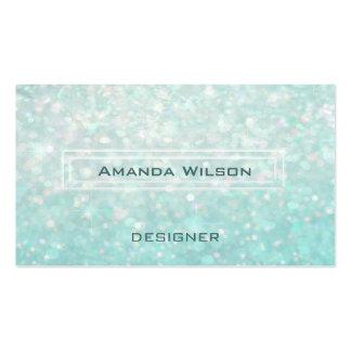 Professional elegant chic glitter bokeh business card
